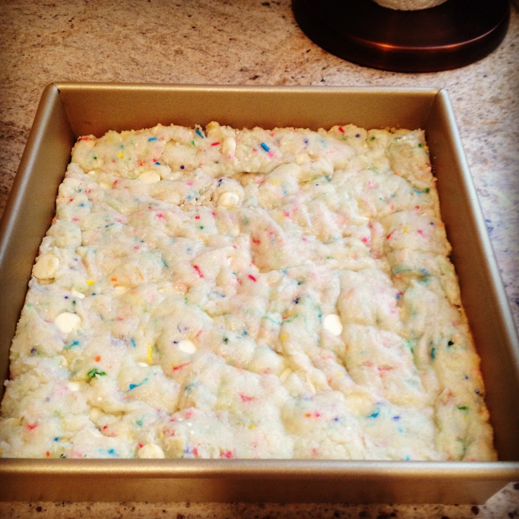 Cake Batter Blondies Angie River